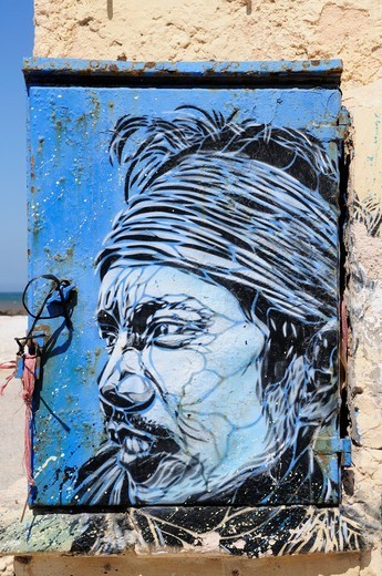 Morocco, Essaouira, Street Art Painting : Stock Photo