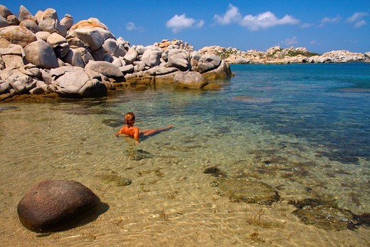 Lavezzi islands in Corsica : Stock Photo