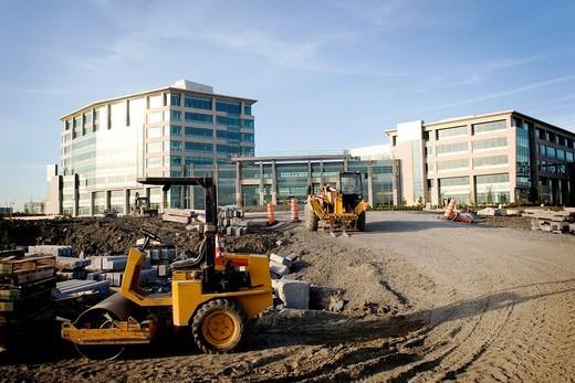 Stock Photo: 1566-753355 Construction site, Montreal, Quebec, Canada