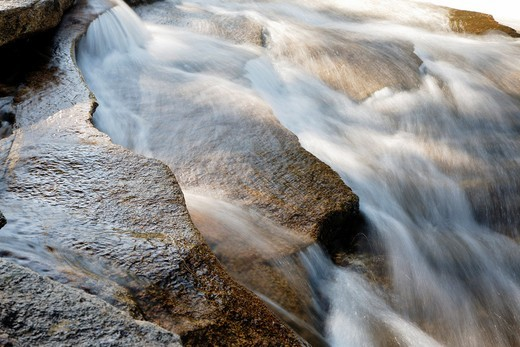 Lower Ammonoosuc Falls in Carroll, New Hampshire USA during the spring months  These falls are located along the Ammonoosuc River : Stock Photo