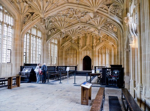 Stock Photo: 1566-753604 Architectural detail of the Divinity School within the Bodleian Library in Oxford  The Library dates from the latter part of the 15th century