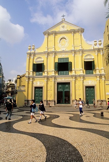 Saint Dominic´s Church, Senado square, Macau, Special Administrative Region, China, Asia : Stock Photo