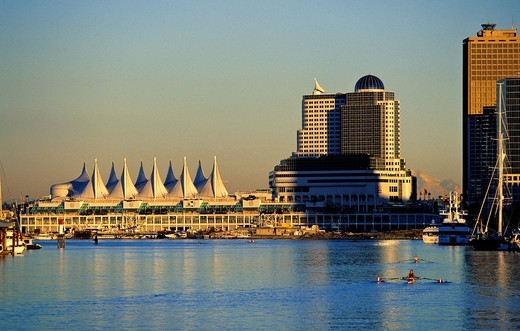 Canada Place convention center, Vancouver  British Columbia, Canada : Stock Photo