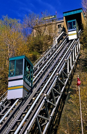 Cable car  Quebec  Canada : Stock Photo