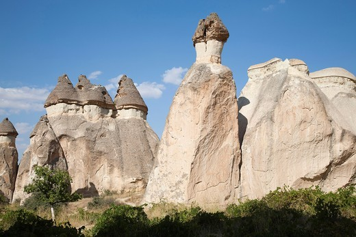 geological formations, area of zelve, landscape, cappadocia, anatolia, turkey, asia : Stock Photo