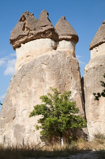 geological formations, area of zelve, landscape, cappadocia, anatolia, turkey, asia : Stock Photo