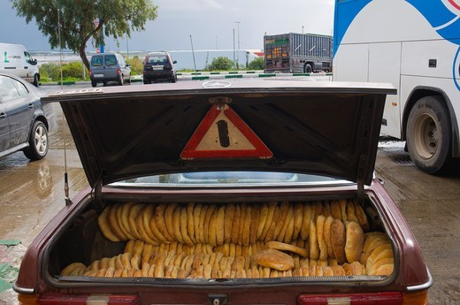 Stock Photo: 1566-756215 Bread delivery vehicle at a rest stop near Rabat northern Morocco northern Africa