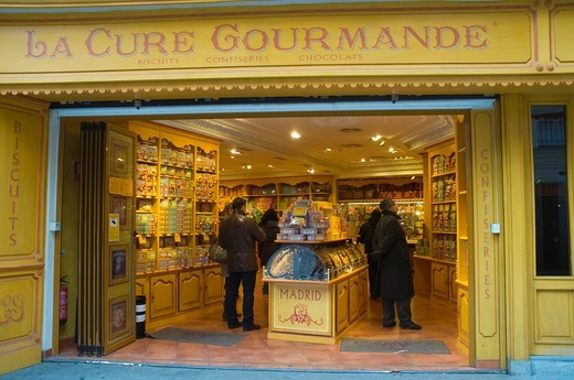 Stock Photo: 1566-756284 Le Cure Gourmande confectionery along Calle de Postas street central Madrid Spain Europe