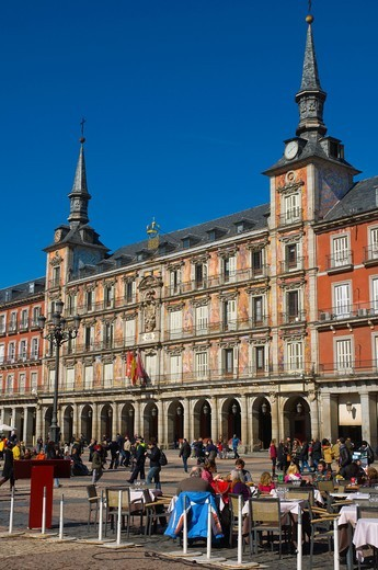 Stock Photo: 1566-756467 Plaza Mayor square central Madrid Spain Europe