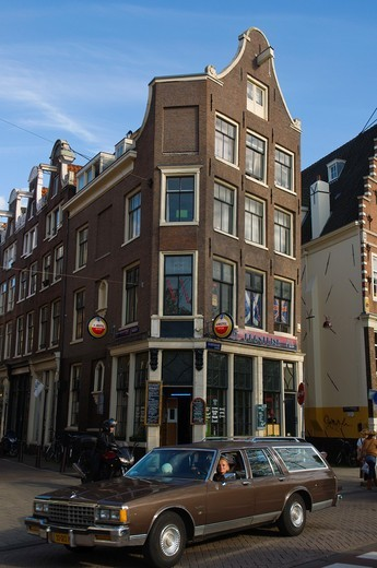 Gelderskade street by Nieuwmarkt square Amsterdam the Netherlands Europe : Stock Photo