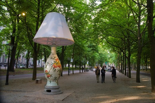 Stock Photo: 1566-756948 National Treasure by Wan Liya on display along Lange Voorhout boulevard in summer 2011 the Hague the Netherlands Europe