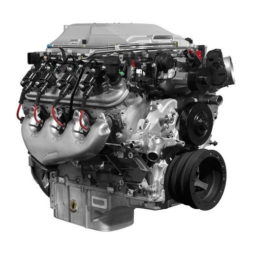 Supercharged V8 Cadillac 556HP 6 2L LSA engine isolated on white background with clipping path : Stock Photo