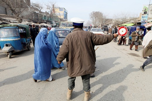Stock Photo: 1566-758583 police officer at work in Kunduz, Afghanistan