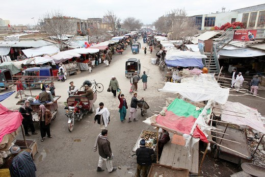 Stock Photo: 1566-758713 Daily life on the market in Kunduz