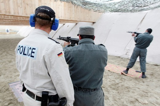 Stock Photo: 1566-759109 Police training centre in Kunduz by German army