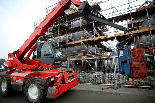 Stock Photo: 1566-759287 construction of new houses in Holland