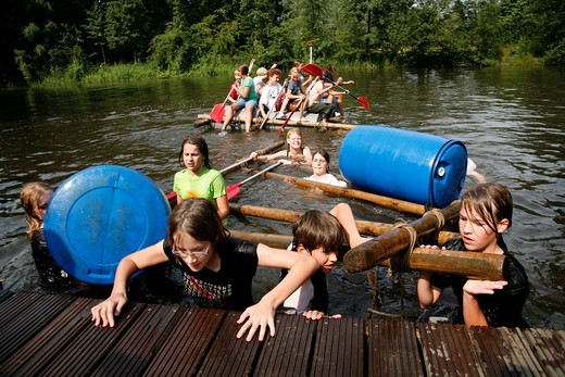 schoolcamp in The Netherlands : Stock Photo