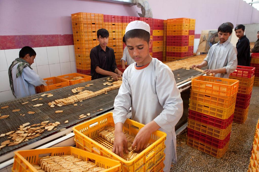 biscuit factory in herat, Afghanistan : Stock Photo