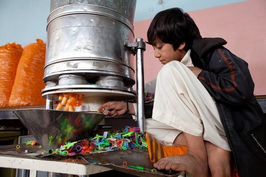 popcorn factory in herat, Afghanistan : Stock Photo