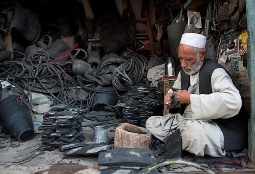 shoe-shop in herat, Afghanistan : Stock Photo