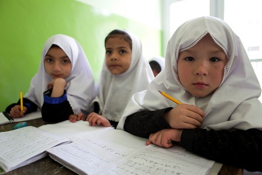 Girl school in Kabul, Afghanistan : Stock Photo