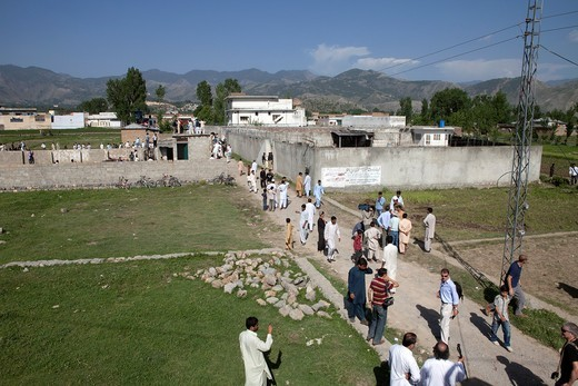 Stock Photo: 1566-760026 house in Abbottabad, pakistan where bin laden was killed