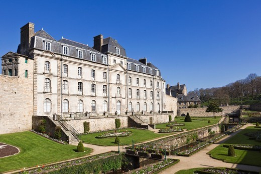 Château de l´Hermine, Vannes, Morbihan, Brittany, France, Europe : Stock Photo