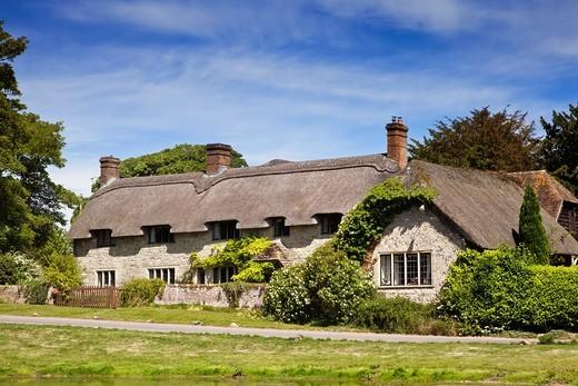 Thatched Cottage, Ashmore, Dorset, England, UK : Stock Photo