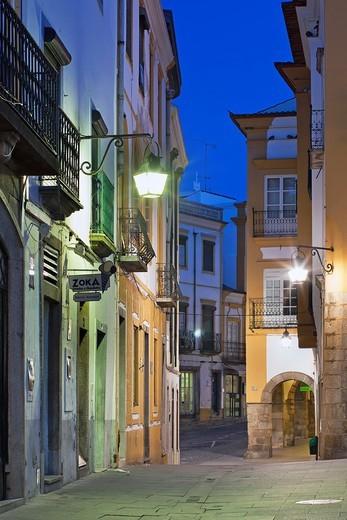 Streets of Evora, Alentejo Portugal, Europe : Stock Photo