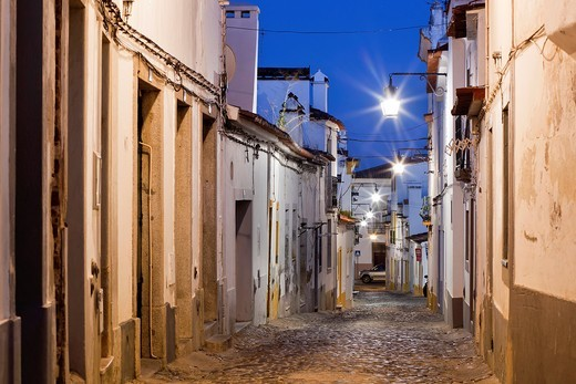 Streets of Evora, Portugal, Europe : Stock Photo