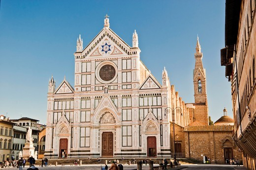 Stock Photo: 1566-762476 Basilica of Santa Croce, Florence, Italy