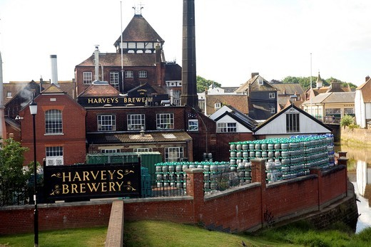 Harveys brewery, Lewes, East Sussex, England : Stock Photo