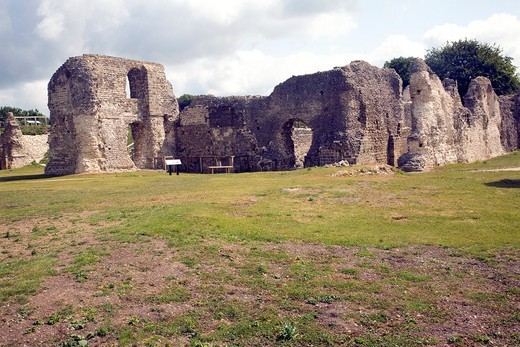 Ruins of Saint Pancras priory, Lewes, East Sussex, England : Stock Photo
