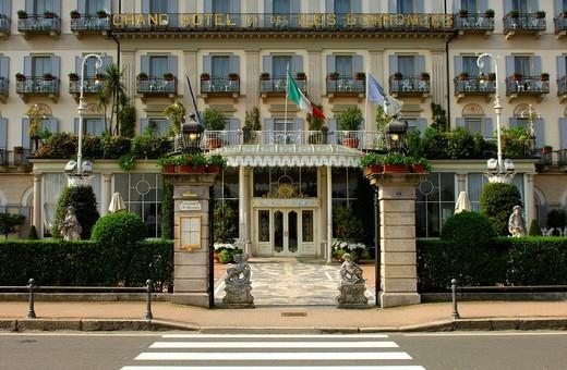 Grand Hotel Des Iles Borromees, Piedmont, Italy : Stock Photo