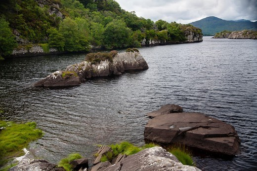 Stock Photo: 1566-764072 Lake landscape  Killarney National Park  County Kerry, Ireland