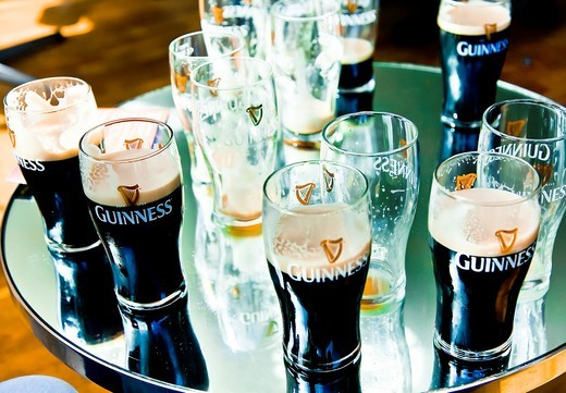 Beers  Guinness Storehouse in Guinness Brewery  Dublin  Ireland : Stock Photo