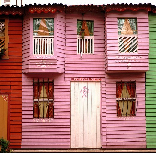 Colourful housing in Istanbul, Turkey : Stock Photo