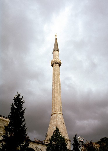 A minaret of the Aya Sofya Hagia Sophia in Istanbul, Turke : Stock Photo