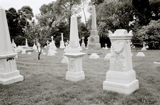 Stock Photo: 1566-764316 Graves in Haider Pasha Cemetery the British War Cemetery in Uskudar, Istanbul, Turke