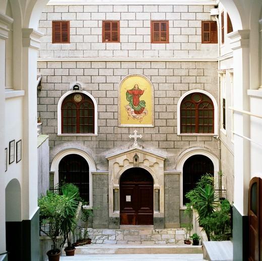 Church of Saint Mary Draperis in Beyoglu, Istanbul, Turkey. : Stock Photo