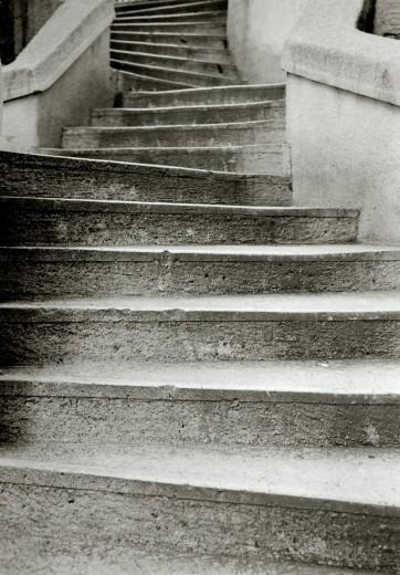 Stock Photo: 1566-764353 The gracefully curving Kamondo Steps in Beyoglu in Istanbul, Turkey.