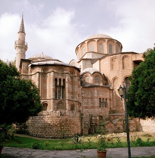 Church of St Saviour in Chora also known as the Kariye Museum Muzesi in Istanbul, Turkey The museum is famous for the mosaics and fresoes of Theodore Metochites : Stock Photo