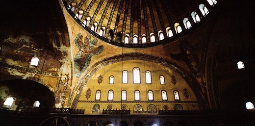 Stock Photo: 1566-764406 Inside the Hagia Sophia in Istanbul Turkey