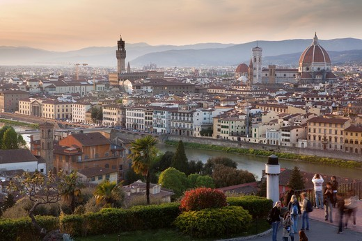 Aerial view, Florence, Tuscany, Italy : Stock Photo