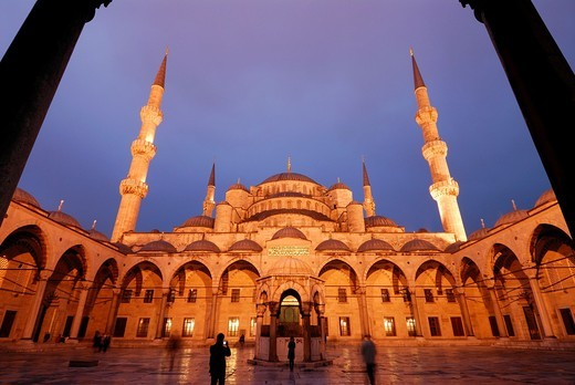 Stock Photo: 1566-765223 Istanbul  Turkey  Blue Mosque, Sultanahmet