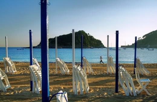 Ondarreta beach  La Concha Bay  Donostia-San Sebastian  European Capital of Culture 2016 : Stock Photo