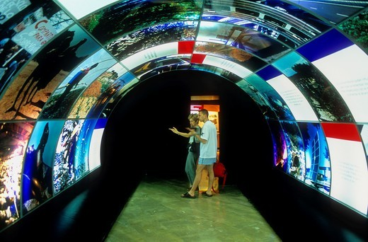 Biosphere room in Parque de las Ciencias Science Museum Granada  Andalucia, Spain : Stock Photo