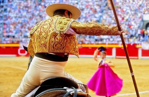 Stock Photo: 1566-766173 Bullfight at the Plaza de Toros, Granada, Andalusia, Spain, Europe