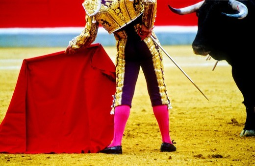 Stock Photo: 1566-766178 Bullfight at the Plaza de Toros, Granada, Andalusia, Spain, Europe