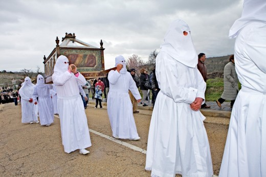 Good Friday procession, Bercianos de Aliste, Province Zamora, Castilla Leon, Spain : Stock Photo